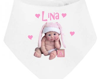 Personalized with name sulkily baby bandana bib