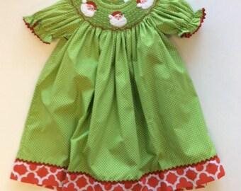 Smocked Santa Dress