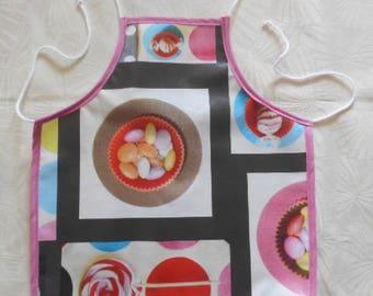 adjustable child - oilcloth apron ' treats ' 2 years