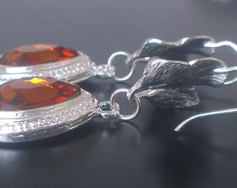 Small drops on silver plated bookmark