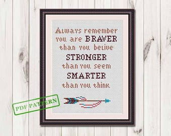 Cross stitch quote pattern Modern Boho Cross Stitch Pattern Cross Stitch Chart Modern Xstitch Pdf Instant Download