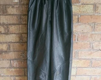 Vintage high waisted PU trousers