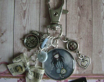 Keychain / bag charm little girl