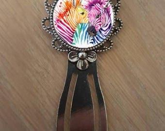 """Bookmark """"multicolored zebras"""""""