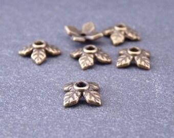 10 bead caps 8 mm - bronze bead caps (Ref: CP0204)