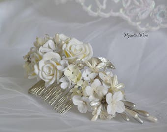 Haircomb with flowers, champagne and Silver collection 2017