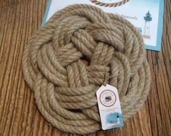 Trivet - Rug - Navy Decoration - hemp - Britany - 10 loops