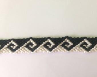 Black and white wave Friendship Bracelet