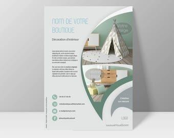 Customizable flyer after this model - original Design children's decoration