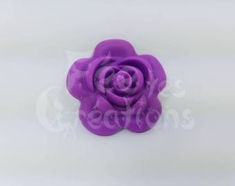 Rose Violet silicone pacifier, rattle etc.