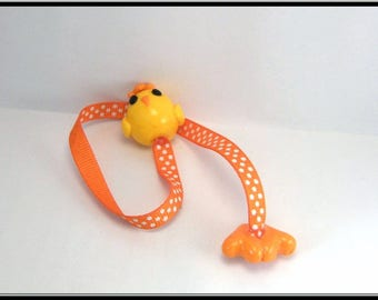 Bookmark polymer clay Easter chick.