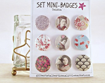 Mini badges 25 mm / 'Geisha '.