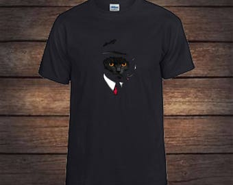 Agent cat t shirt, secret agent, graphic tees, cat shirt, christmas gift, birthday gifts, tshirts, shirts, t shirts