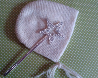 Baby bonnet Hat baby knit retro