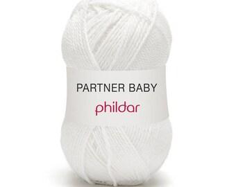 laine phildar laine partner baby coloris blanc