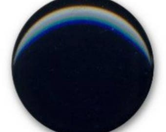 large slightly domed button polyester Navy 22 mm