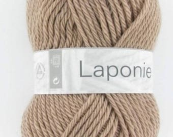 Chunky yarn and yarn No. 304 taupe LAPLAND white horse