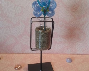 Beads - blue Orchid