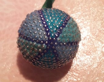 Christmas ball beads - the old blue