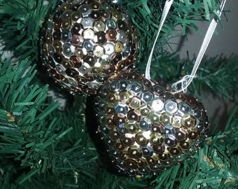Sequins - Symphony metal Christmas balls