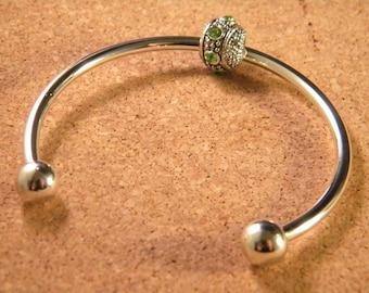Bracelet stiff band 55 mm - silver-CHA-B-01