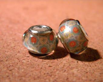 2 beads charm European - style 14 mm - 2 D95 pandor@-