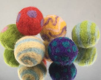 Handmade Hand-felted Catnip infused Kitty Toy
