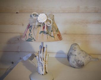 Light romantic floral fabric & Driftwood