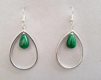 jade and Silver earrings