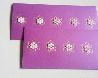 Handcrafted paper envelopes