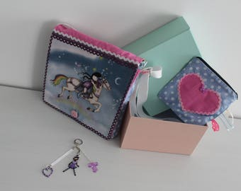 "Gift box: ""Little girl on his horse"" shoulder bag"