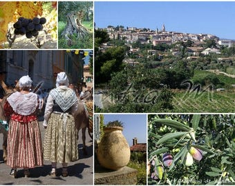 Photo 30X40cm jumble themed the Cadière Provence village