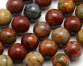 Picasso Jasper bead natural ø10mm * to the unit *.