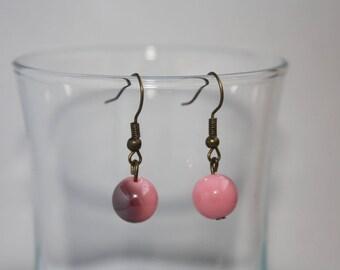Pink fancy two-colored Pearl Earrings