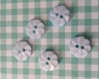 DESTASH: 55 buttons round light blue 1.2 cm in diam n8