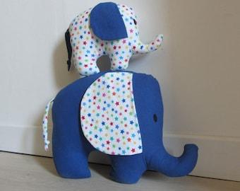 Decorative matching MOM and baby elephant plush