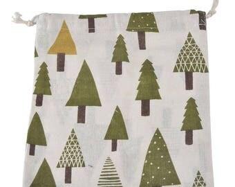 1 sachet bag fabric cotton tree Christmas Pr candy Christmas gift 23x18.5cm within 15 days