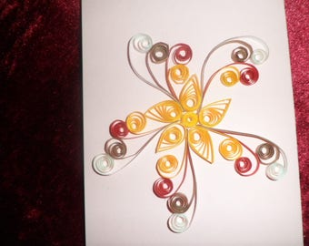quilling card any occasion, flower and Arabesque