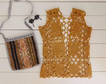 Vintage 1960s Crochet Vest