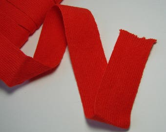 Acrylic jersey Ribbon, 27 mm, red, sold by the yard.