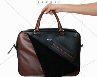 Barcelona leather Briefcase