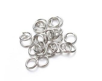 Lot de 200 anneaux de jonction ouverts argent foncé, 5mm