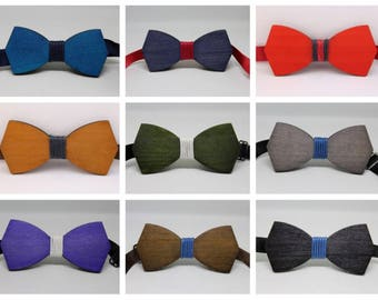 Classic wooden bow tie