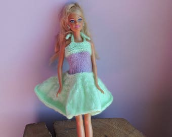 Green and purple Barbie dress