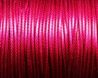 Reel 90 m - wire 1.5 mm Magenta Fuchsia pink wax cotton cord