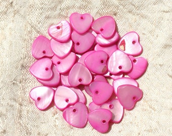 10pc - Pearl 11mm Rose 4558550019233 hearts charms pendants