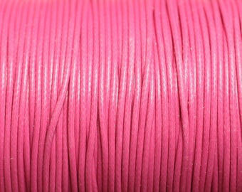 5 m - 1 wax cotton cord mm candy pink - 4558550016034