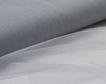 light gray soft tulle width 120 cm