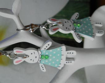 Lilou rabbits kids earrings