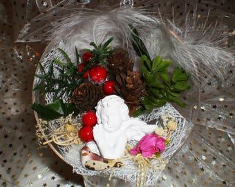 1/2 diameter 12 cm Angel tranparent plexi decorative ball